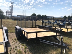 Utility Trailer 12ft Dual Tandem Utility Trailer 12ft Dual Tandem. With tall back gate