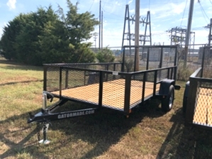 Utility Trailer With Tall Sides 6x12 Utility Trailer With Tall Sides 6x12. Single axle with diamond tread fenders